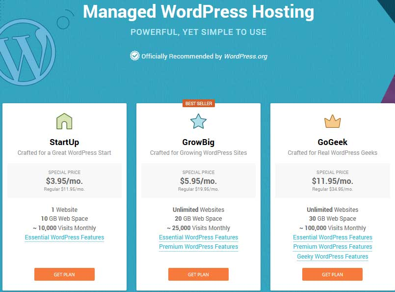 Siteground Managed WordPress Hosting plans review